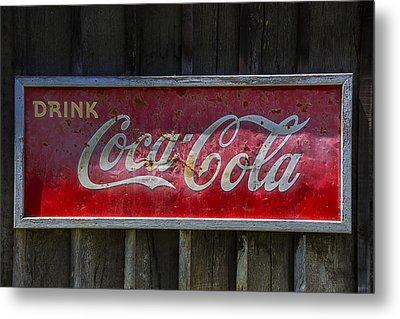 Drink Coca Cola Metal Print by Garry Gay