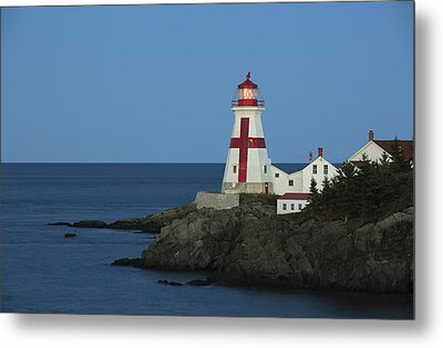 East Quoddy Lighthouse At Dusk Metal Print by Scott Leslie
