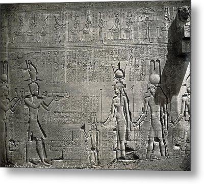 Egypt Temple Of Hathor Metal Print by Granger