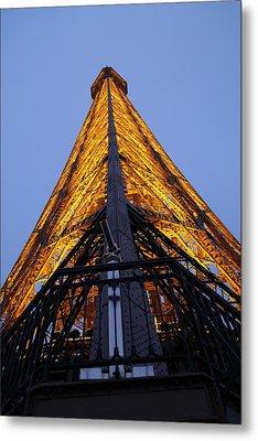 Eiffel Tower - Paris France - 01135 Metal Print by DC Photographer