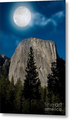 El Capitan, Yosemite Np Metal Print by Mark Newman