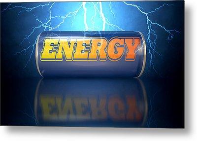 Energy Drink Can Metal Print by Allan Swart
