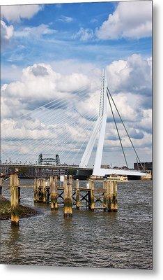 Erasmus Bridge In Rotterdam Metal Print by Artur Bogacki