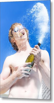 Exploding Champagne Spray Metal Print by Jorgo Photography - Wall Art Gallery