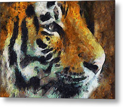 Eye Of The Tiger Metal Print by Georgiana Romanovna