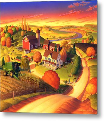 Fall On The Farm  Metal Print by Robin Moline