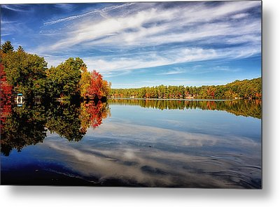 Fall Reflections Metal Print by Tricia Marchlik