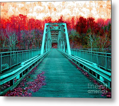 Fayette Station Bridge Metal Print by Amy Sorrell