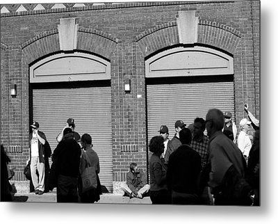 Fenway Park - Fans And Locked Gate Metal Print by Frank Romeo