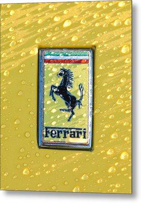Ferrari Emblem Metal Print by Jill Reger