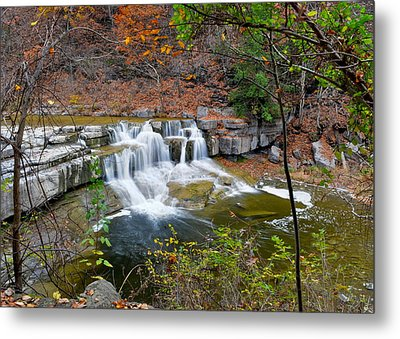 Finger Lakes Waterfall Metal Print by Frozen in Time Fine Art Photography
