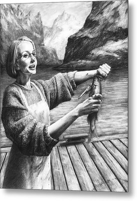 Fish Woman Metal Print by Mark Zelmer