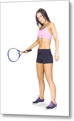 Fit Active Female Sports Person Playing Tennis Metal Print by Jorgo Photography - Wall Art Gallery