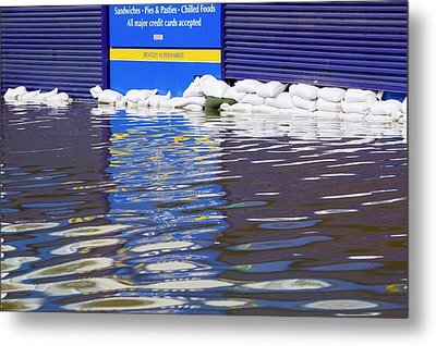 Flooding Metal Print by Ashley Cooper