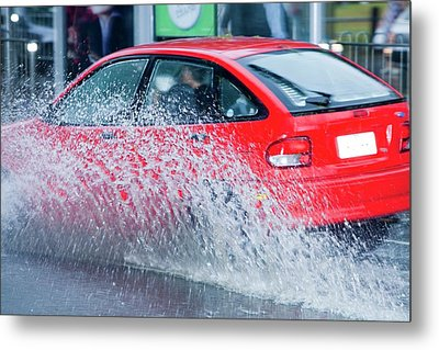Flooding In Melbourne Metal Print by Ashley Cooper