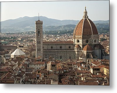 Florence Cathedral And Brunelleschi's Dome Metal Print by Melany Sarafis