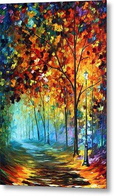 Fog Alley Metal Print by Leonid Afremov