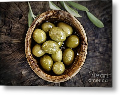 Fresh Olives Metal Print by Mythja  Photography