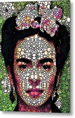 Frida Kahlo Art - Define Beauty Metal Print by Sharon Cummings