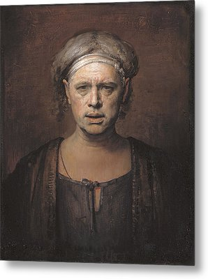 Frontal Metal Print by Odd Nerdrum