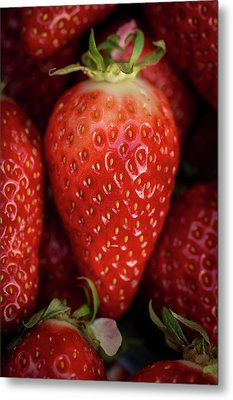 Gariguette Strawberries Metal Print by Aberration Films Ltd