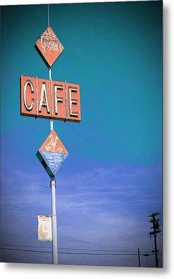 Gaston's Cafe Metal Print by Charlette Miller