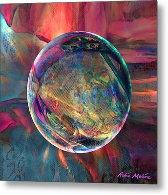 Ghosting Psychedelic Lace Metal Print by Robin Moline