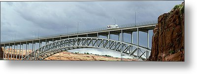 Glen Canyon Dam Bridge Metal Print by Jim West