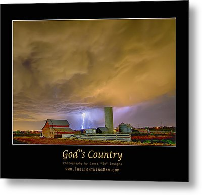 God's Country  Metal Print by James BO  Insogna
