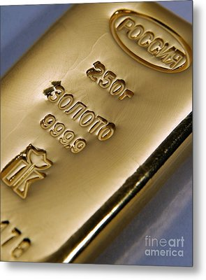 Gold Bullion Metal Print by RIA Novosti