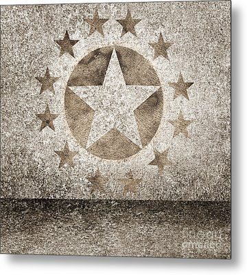 Gold Star Hollywood Event Background. Walk Of Fame Metal Print by Jorgo Photography - Wall Art Gallery