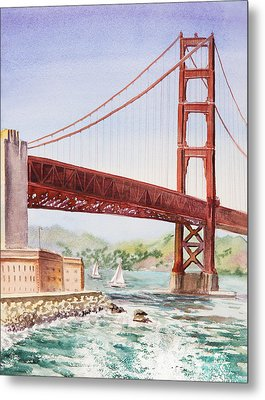 Golden Gate Bridge San Francisco Metal Print by Irina Sztukowski