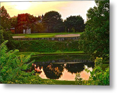 Golf Course Beauty Metal Print by Frozen in Time Fine Art Photography