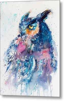 Great Horned Owl Metal Print by Kovacs Anna Brigitta