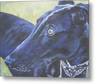 Greyhound Metal Print by Lee Ann Shepard
