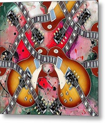 Guitar Mirage Metal Print by Marvin Blaine