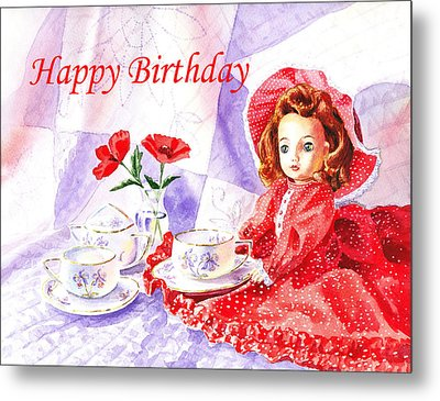 Happy Birthday Metal Print by Irina Sztukowski