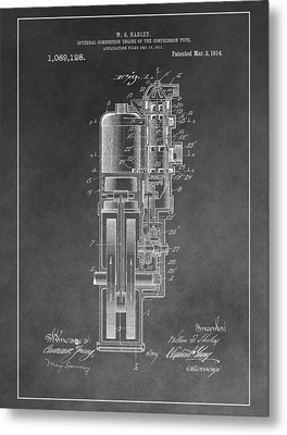 Harley Davidson Engine Patent Metal Print by Dan Sproul