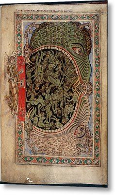 Harrowing Of Hell Metal Print by British Library