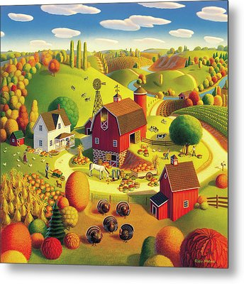 Harvest Bounty Metal Print by Robin Moline