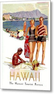Hawaii Vintage Travel Poster Metal Print by Jon Neidert