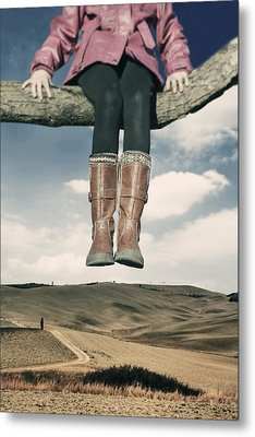 High Over The World Metal Print by Joana Kruse