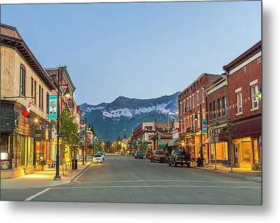 Historic 2nd Street In Downtown Fernie Metal Print by Chuck Haney