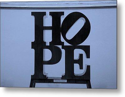 Hope In Cyan Metal Print by Rob Hans