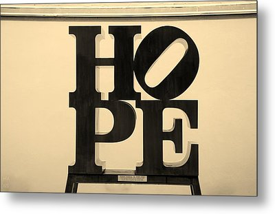 Hope In Sepia Metal Print by Rob Hans