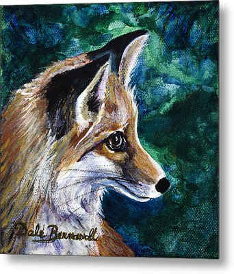 Hopeful Fox Metal Print by Dale Bernard