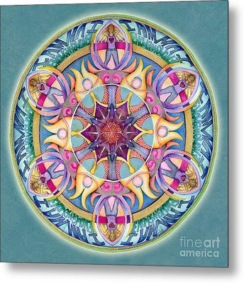 I Am Enough Mandala Metal Print by Jo Thomas Blaine
