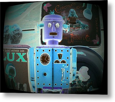 I Did Not Want To Become A Robot Metal Print by Donatella Muggianu