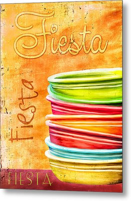 I Love Fiestaware Metal Print by Brenda Bryant
