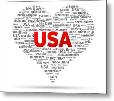 I Love Usa Metal Print by Aged Pixel